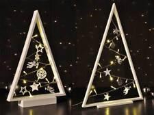 LED Tannenbaum Baum aus Holz mit Lichterkette warmweiß 2 Größen Weihnachtsdeko