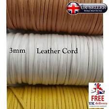PIATTO Faux Leather Cord 3Mm GIOIELLI GIOIELLI BRACCIALE COLLANA macrame