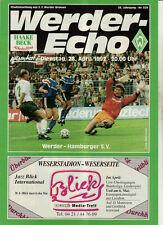 BL 91/92 SV Werder Bremen - Hamburger SV