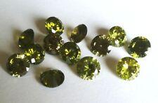 CZ Round Peridot Green 2mm 4mm 6mm 8mm 10mm Loose AAA Cubic Zirconia Gemstone