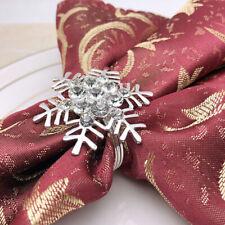 6pcs Snowflake Napkin Rings Metal Napkin Rings Napkin Holders for Dinner Event