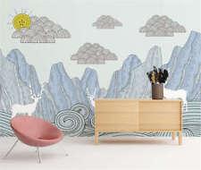 Fairy Implicit Hill 3D Full Wall Mural Photo Wallpaper Printing Home Kids Decor