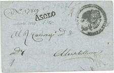 LOMBARDO VENETO - PREFILATELICA: da ASOLO a MONTEBELLUNO 1837
