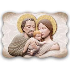 Pannello Sacra Famiglia in legno sagomato | 3 misure e 2 varianti colore diverse