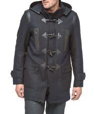 Andrew Marc Richard Chai Men Navy Wool Hood Toggle Coat Parka Pierce Jacket