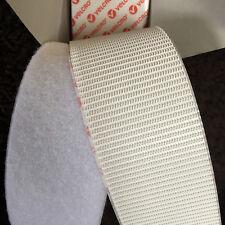 Velcro ® marca Heavy Duty bastone su nastro in Bianco Gancio e Passante 50 mm (50cm-5m)