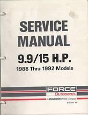 1988-1992 FORCE OUTBOARD  BRUNSWICK  9.9/15 HP MANUAL