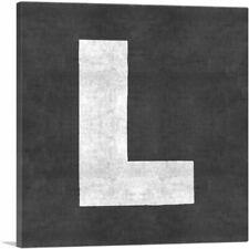 ARTCANVAS Chalkboard Alphabet Letter L Canvas Art Print