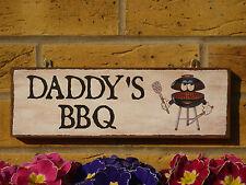 Segno personalizzato Daddys BBQ BARBECUE BBQ segno Padri segno PAPA 'TARGA divertente segni