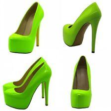 Women Super High Stiletto Heel Shoes Pumps Platform Slip On Nightclub Party Sexy