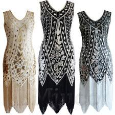 1920s Flapper Dresses Sequins Fringes Gatsby 30s Deluxe Roaring 20's Fancy Dress