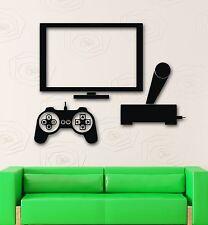 Wall Sticker Vinyl Decal Video Game Joystick Tv Gamer Cool Nursery (ig1964)