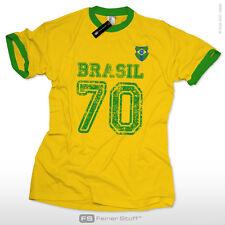 Brasilien 70 Trikot Shirt Brasil Retro Fussball WM 2014 Kult Fan T-Shirt S-XXL