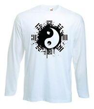 YIN & YANG T-SHIRT - Pagan Wicca Druid Chinese Taoism - Choice of Colour - S-XXL