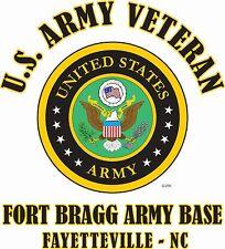 U.S. ARMY VETERAN EMBLEM NAME DROP U.S. ARMY MILITARY BASE SHIRT
