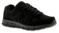 Nuevo Niños Grandes/Infantil Negro Cordones Zapatillas/Zapatillas