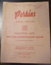 Perkins Vier 270 D Dieselmotor Ersatzteilliste