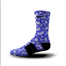 c6fb100ce5b86 Hoopswagg Hanukkah Mashup Custom Nike Elite Socks Small | eBay