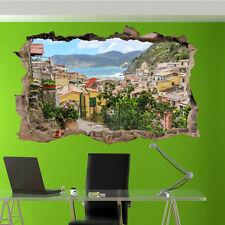 Italie Vacances Ville Vernazza Autocollant Mural 3D Art Mural Chambre Bureau Shop DECOR VX9
