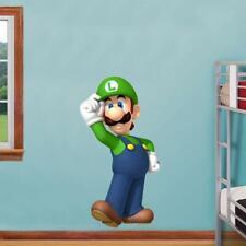 Luigi Standing Decal Removable Wall Sticker Decor Art Super Mario Smash Bros