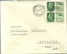 REGNO 1943 BUSTA DA SAN ERMETE A MONDAINO PROPAGANDA GUERRA 2 PEZZI DA  25 C.