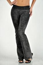 T-Party Folded Waist Mineral Wash Plain Color Pants #CJ7477