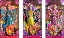 Le ragazze in plastica Principessa Fata Bambola bellissimo abito lucido ALI BACCHETTA Spazzola per capelli