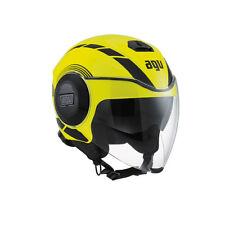Casco moto jet AGV fluid multi equalizer giallo fluo/nero