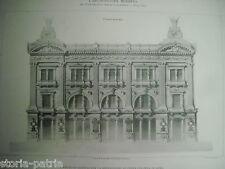ROMA_ARCHITETTURA_PIAZZA COLONNA_PROGETTO DI EDIFICIO_TOGNETTI_COLLAMARINI_'800