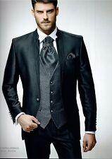 Herrenanzug Hochzeitsanzug Herren Bräutigam Slim Fit 9-teiler  schwarz Gr. 46-66