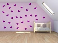 24 Corazón Amor Pegatinas de Pared Niño Arte vivero dormitorio Vinilo calcomanías de calcomanía
