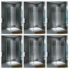 Duschkabine Eckdusche Dusche Duschabtrennung ESG Echtglas Duschtasse Quadrat