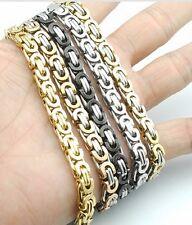 316L Stainless Steel 22cm Link Chain Bracelet Bangle Gold Silver Mens Womens UK