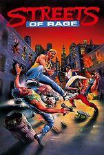 Streets of Rage (1991) Retro Game Poster |4 Sizes| Sega CD Megadrive Genesis 3DS