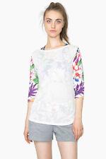 DESIGUAL Sport-Kollektion Shirt *TS_L-T-S 3/4 SLEEVE G* blanco