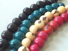 10 Tagua Perle Stein Nuss Corozo  pflanzliches Elfenbein 9 - 10 mm Farbwahl 2798