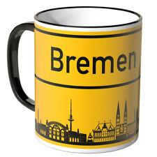 """WANDKINGS Tasse Ortsschild Skyline """"Bremen"""" versch. Farben Geschenk Geburtstag"""