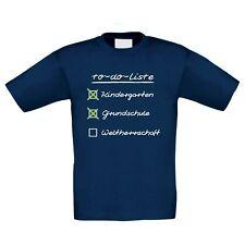 Kinder T-Shirt - To do Liste für Schulkinder - Schulanfang Einschulung Gymnasium