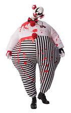 Adult EVIL CLOWN INFLATABLE Killer IT Fancy Dress Costume Mens Creepy Halloween