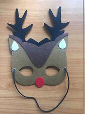 Kids Rudolph Reindeer Xmas Mask Costume Fancy DressUp Imaginative Play Party FUN