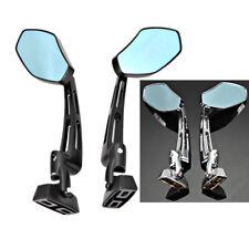 Pair 6mm CNC Black Rearview Mirrors For YAMAHA YZF 600 1000 R1 R6 S FZ6 FZ1 FZ6