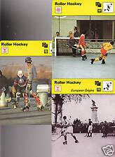 ROLLER HOCKEY Sport 1977 SPORTSCASTER USA 3 CARD SET