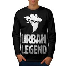 URBAN Legend BANDIT Divertente Uomini Manica Lunga T-shirt Nuove | wellcoda