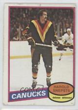 1980-81 O-Pee-Chee #312 Harold Snepsts Vancouver Canucks Hockey Card
