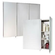 2 Or 3 Door Stainless Steel Wall Mounted Mirror Bathroom Cabinet Hang N Lock NEW