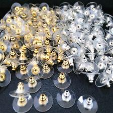 Lots 50Pcs Silver Golden Earnuts Earring Backs Stoppers Findings Useful Jewelry