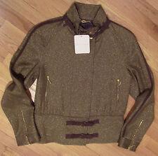 Erin Snow Ladies Jacket Coat Vivian Shimmer Bronze Suede Trim Zipper Sz M  $798