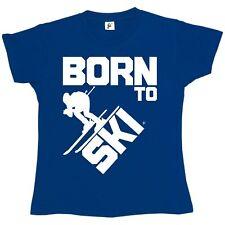 Born to Ski-Skieur ciel Rapide Pour Femme Femmes T-Shirt