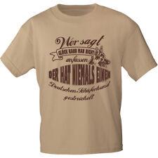 T-Shirt unisex S - 3xl ..Glueck anfassen.. Schaeferhund gestreichelt 12886 beige