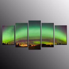 Wall Art Painting Landscape Photo Canvas Print Art Decor Green Light 5 Panels